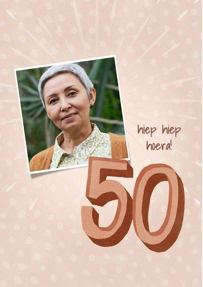 Verjaardagkaart voor een vrouw 50 jaar Happy birthday to you 2