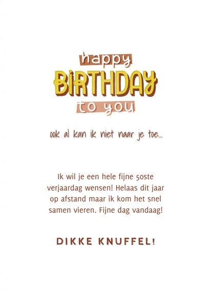 Verjaardagkaart voor een vrouw 50 jaar Happy birthday to you 3