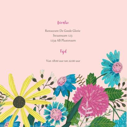 Verjaardagsfeestje 65 jaar bloemen en vogel 2