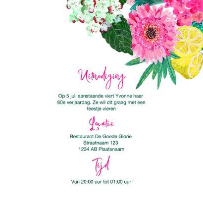Verjaardagsfeestje botanisch bloemen fel roze 3