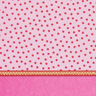 Verjaardagskaart 12 roze 2