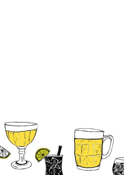 Verjaardagskaart 50 drankjes 2