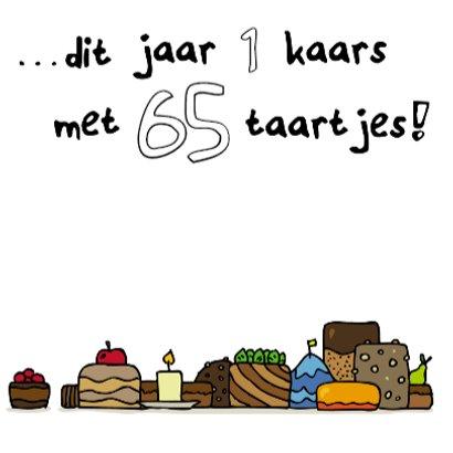 Verjaardagskaart 65 Taartjes 3