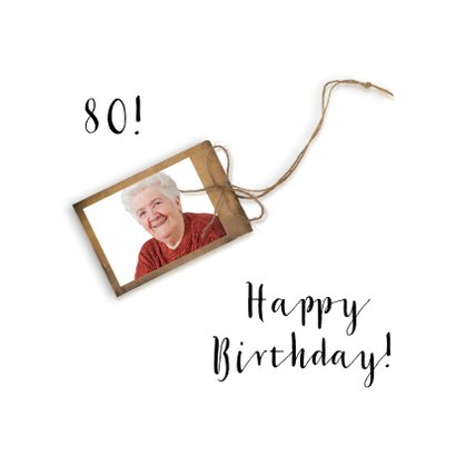 Verjaardagskaart 80 jaar roodborstje 2