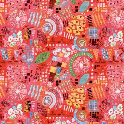 Verjaardagskaart Abstract Rood 2
