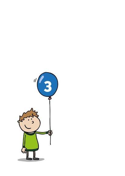 Verjaardagskaart Ballon Doolhof Jongen 2