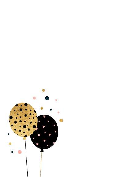 Verjaardagskaart ballon patroon 2