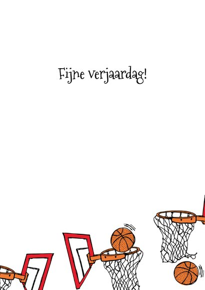 Verjaardagskaart basketbal 3