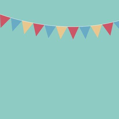 Verjaardagskaart - beer met blauwe feestmuts 2