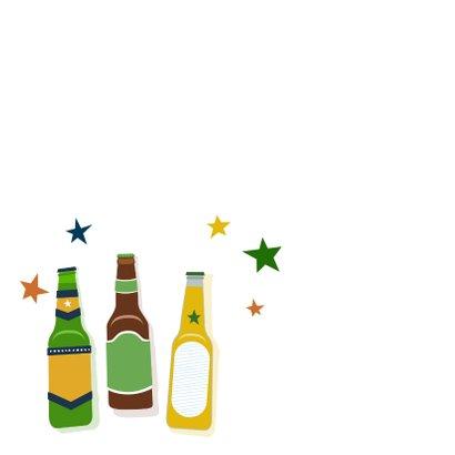 Verjaardagskaart bierflesjes 2