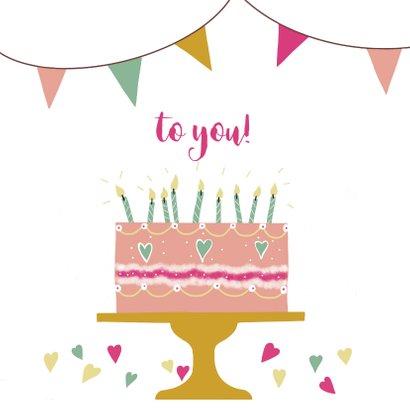 Verjaardagskaart Birthday Cake with Candles 2