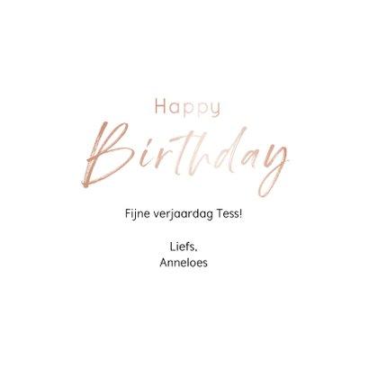 Verjaardagskaart birthday girl in mooie blush kleur 3