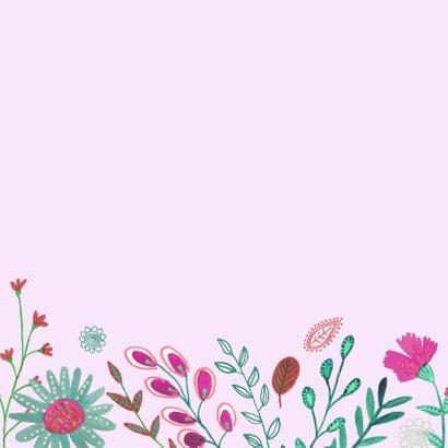 Verjaardagskaart bloemen pracht. 2