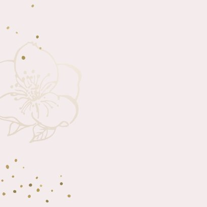 Verjaardagskaart bloemen roze goudlook 2
