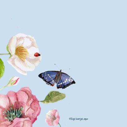 Verjaardagskaart Bloemenpracht in frisse kleuren 2