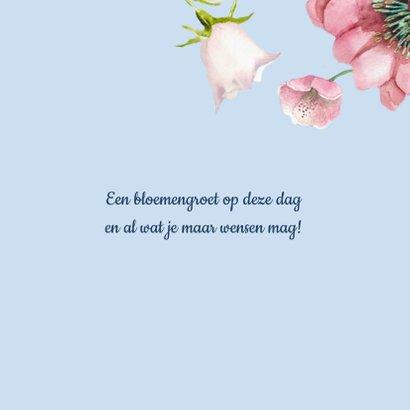 Verjaardagskaart Bloemenpracht in frisse kleuren 3