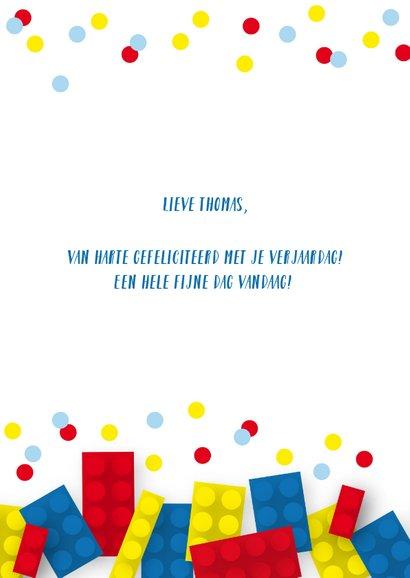 Verjaardagskaart blokken confetti jongen 2