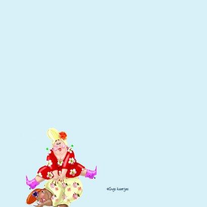 Verjaardagskaart Bokje over springen 2