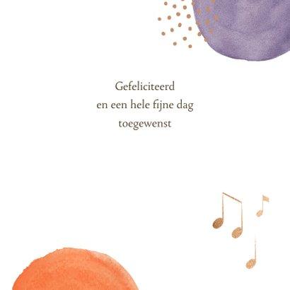 Verjaardagskaart - Bollen met muzieknoten 3