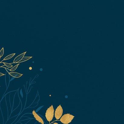 Verjaardagskaart botanical gold 2