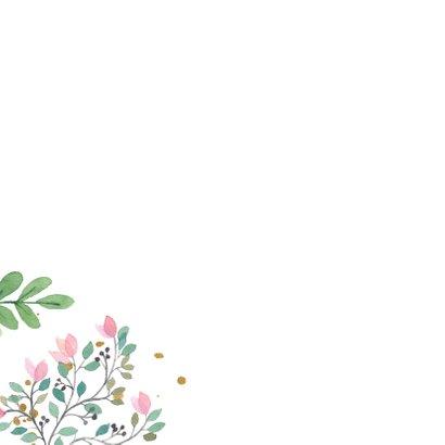 Verjaardagskaart botanisch goud 2