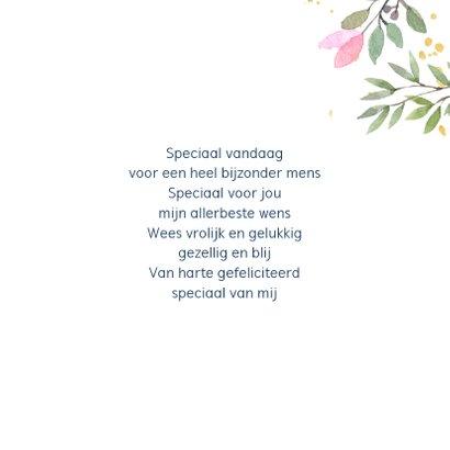 Verjaardagskaart botanisch goud 3