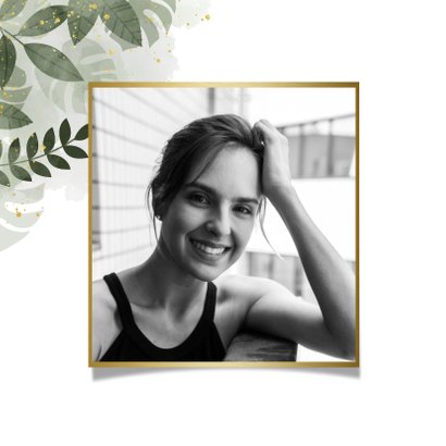 Verjaardagskaart botanische print, waterverf en spetters 2