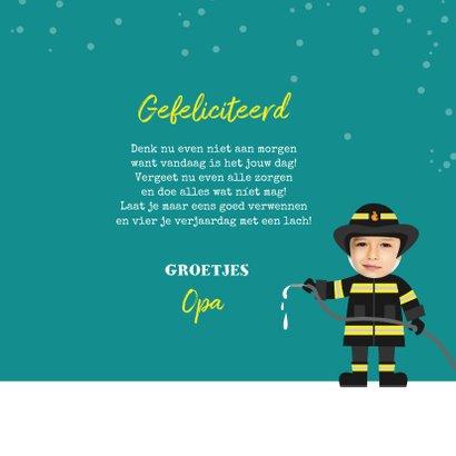 Verjaardagskaart brandweer brandweerman foto 3