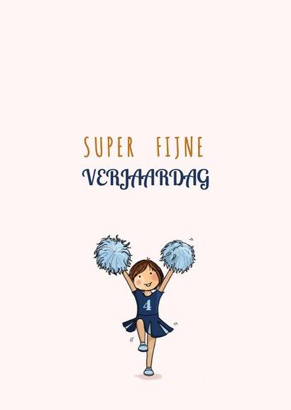 Verjaardagskaart cheerleaders blauw 3