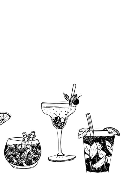 Verjaardagskaart cocktails hip 2