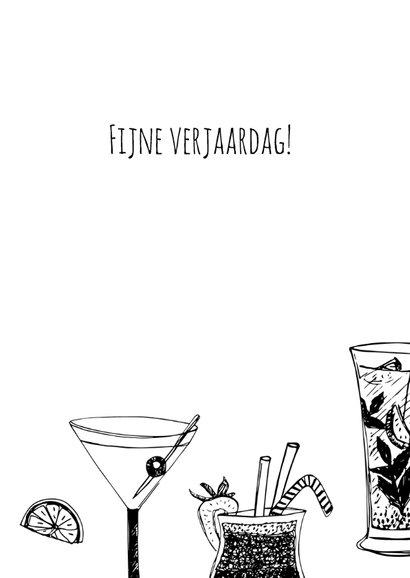 Verjaardagskaart cocktails hip 3