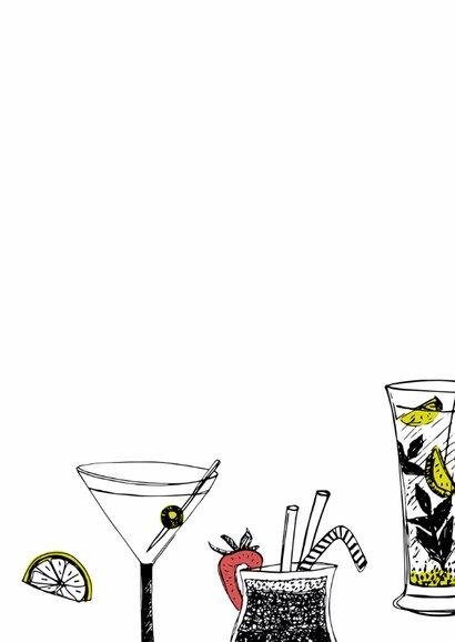 Verjaardagskaart cocktails krijt 3