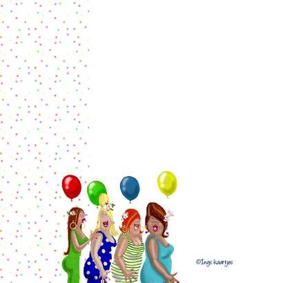 Verjaardagskaart confetti feest 2