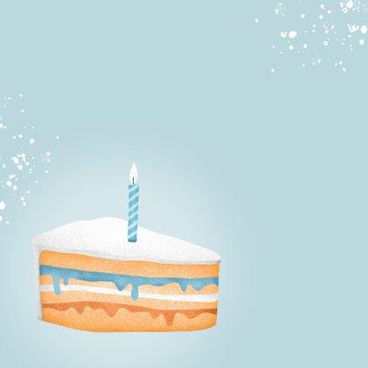 Verjaardagskaart corona taartje quarantaine feestje man 2