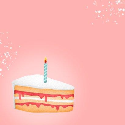Verjaardagskaart corona taartje quarantaine feestje vrouw 2