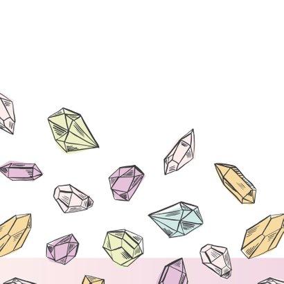 Verjaardagskaart diamanten 2