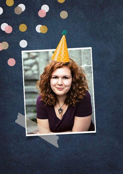 Verjaardagskaart dikke kus voor mijn zus met confetti 2