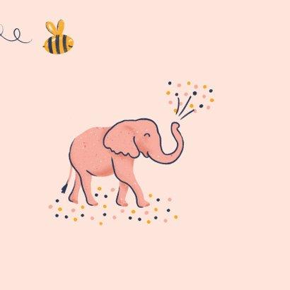 Verjaardagskaart dino flamingo olifant 2