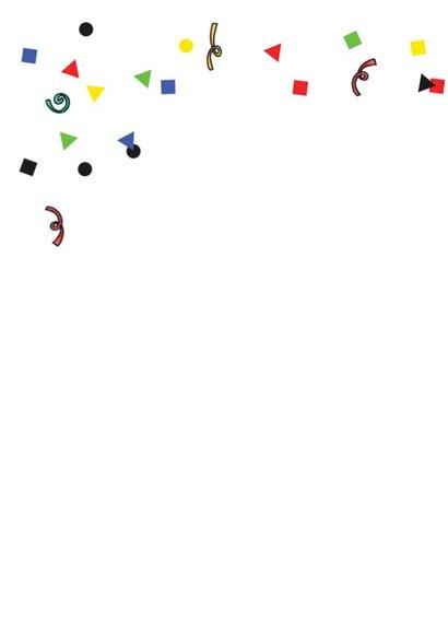Verjaardagskaart dino slingers en confetti 2