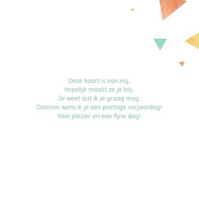 Verjaardagskaart driehoek knallen 3