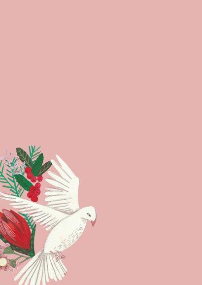 Verjaardagskaart duiven en dennengroen 2