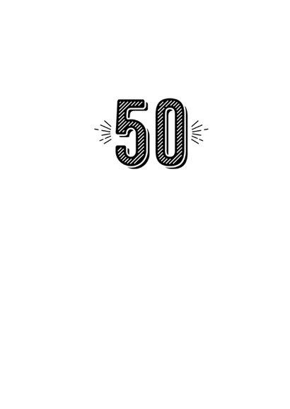 Verjaardagskaart echt 50 aquarelstrepen 3