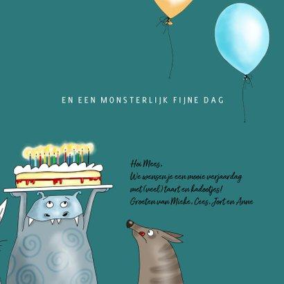 Verjaardagskaart een monsterlijk leuke dag! 3