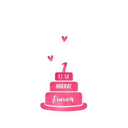 Verjaardagskaart eerste verjaardag hip met eigen foto's 2