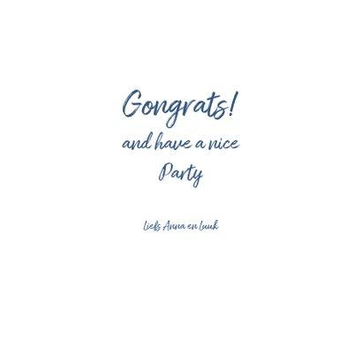 Verjaardagskaart feestje bubbels en confetti 3