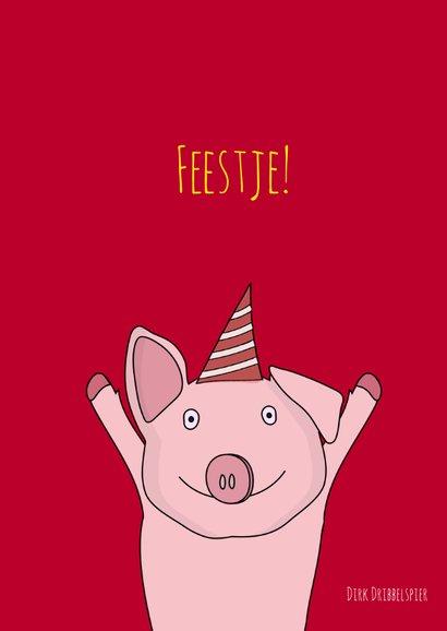 Verjaardagskaart Feestvarkentje! 2