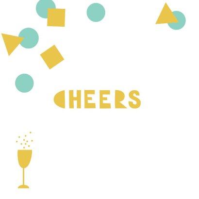 Verjaardagskaart felicitatie confetti bubbels 2