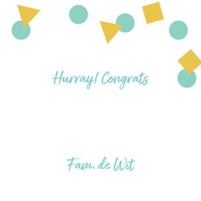 Verjaardagskaart felicitatie confetti bubbels 3