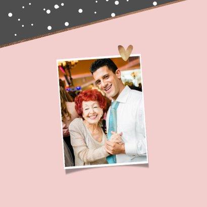 Verjaardagskaart felicitatie confetti goud stijlvol foto 2