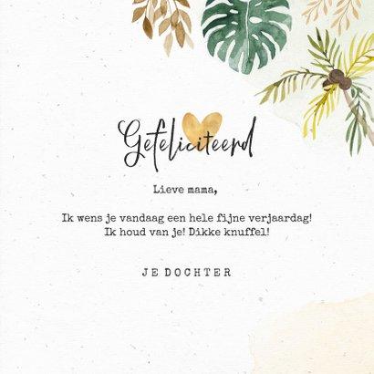 Verjaardagskaart felicitatie jungle palmbomen botanisch 3